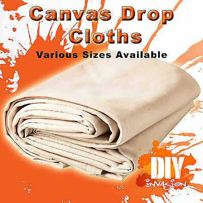 Uni-Pro Heavy Duty Canvas Drop Cloth Drop Sheet Paint & Dust Protection Trade