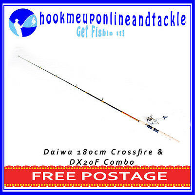 Daiwa Crossfire 2 Piece Fishing Rod 1.80mt with Boyang DX20F Spinning Reel