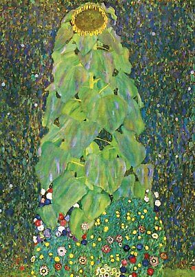 Gustav Klimt - The Sunflower - A4 QUALITY Canvas Print Poster 21x29.7cm Unframed