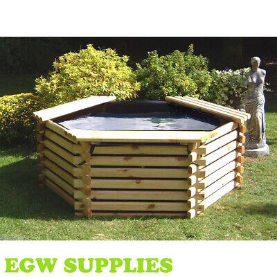New Wooden Pool 175 Gallon Raised Garden Fish Pond,water Feature