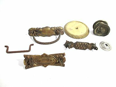 Group of 8 Metal Antique Hardware Salvage Pieces
