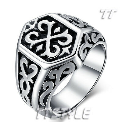 Top Quality TTstyle 316L Stainless Steel Thor Hammer Band Ring Size 8-13 NEW