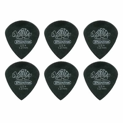 6 X Jim Dunlop Tortex Jazz 3 Pitch Black 1.0mm Guitar Picks III *NEW* Free Post
