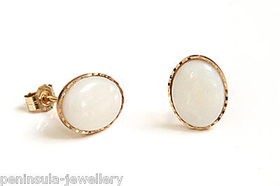 9ct Gold Opal Stud earrings Gift Boxed Made in UK