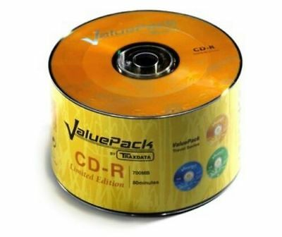 50 Cd-R Cdr Traxdata Valuepack Shrink Vergini Stock Vuoti + 1 Cd Verbatim