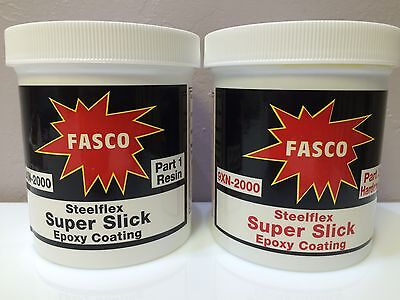 FASCO STEELFLEX SUPER SLICK EPOXY COATING 1 Qt kit FREE PIGMENT  pn 9XN2000