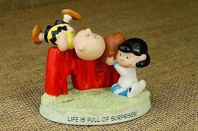 Peanuts Life Full of Surprises Fall Ball Charlie Brown Lucy Figurine 2000