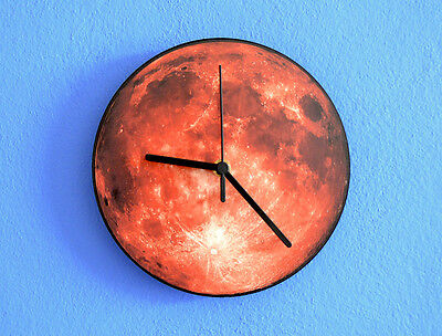 Red Moon - Wall Clock