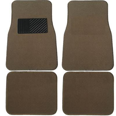 4 Piece Brand New Premium Dark Beige Carpet Floor Mats Suv  Uaa-7