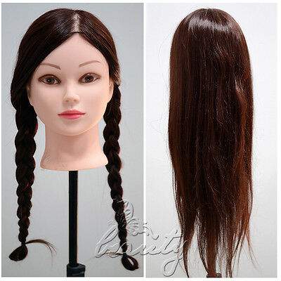 22 Quot Real Human Hair Hairdressing Head Hair Mannequin W