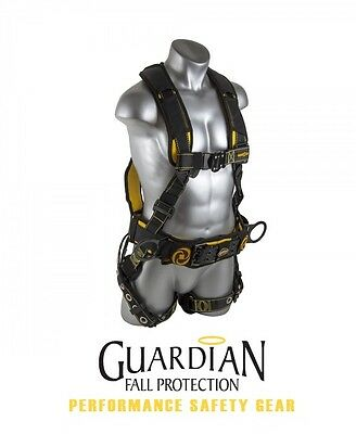GUARDIAN 21034 Cyclone Construction Harness with Chest Quick-Connect Buckle M-L