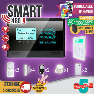 Antifurto Allarme Touch Screen Casa Combinatore Gsm Wireless Cellulare Smart480L