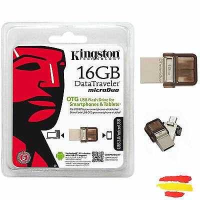 Pendrive Kingston Micro Dtduo/16Gb 16Gb Memoria Otg Usb 16 Gb Pen Drive Movil