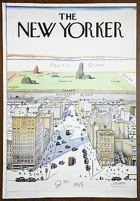 Saul Steinberg 1976 The New Yorker Original Limited Edition Lithograph
