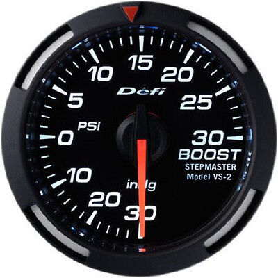 Defi Racer Turbo Boost Gauge -30inHg to +30PSI 52mm w/ White LED DF06503 NEW