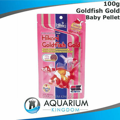 Hikari Goldfish Gold BABY Pellet 100g 2mm - Floating Fish Food Pellets Small Koi