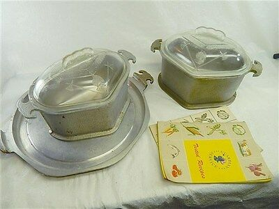 VINTAGE GUARDIAN WARE COOKWARE TRAY AND TWO COOKERS