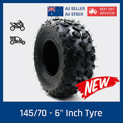 "145/70- 6"" Inch Tire/Tyre for 70/90cc 110cc 125cc ATV Quad Buggy Go Kart Mower"