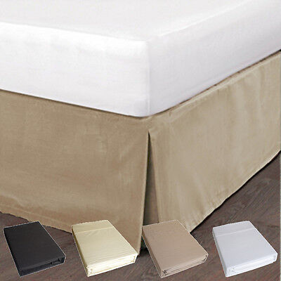 Queen Bed Poly/Cotton Percale Valance, 225TC, 4 Colours, 33cm Drop, Free Postage