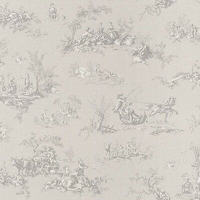 Grey Toile de Jouy Wallpaper Lazy Sunday by Rasch 451849