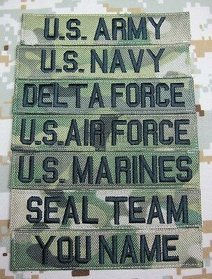 Nylon Multicam Black Lette Chest Tape Custom name Tapes Embroidery Patch