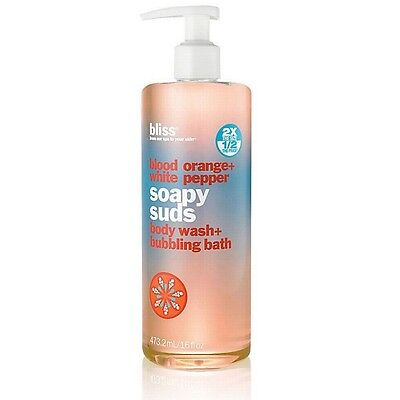 Bliss Blood Orange + White Pepper Soapy Suds 16 oz. - NEW