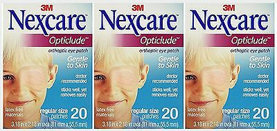 Opticlude Orthoptic Regular Nexcare Eye Patch - 20 Pcs ( 3 pack )
