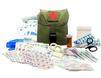 New Recruit First Aid Kit - Military IFAK Army Medic - OD Green #FA15