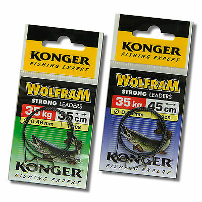Tungsten Wolfram Wire Leader Trace Pike Catfish Sea Fishing 77lb 35kg 35-45cm