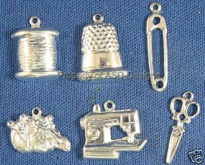 144pc S/S Plated Sewing Tailoring Crafting Charms 5193