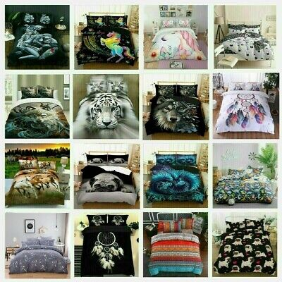 Quilt Duvet Doona Cover Set Pillowcase Single Double Queen King Size Bedding Set