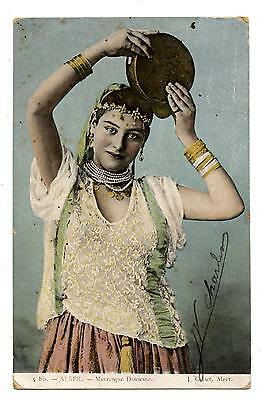 JOLIE MAURESQUE.DANSEUSE TAMBOURIN.ATTRACTIVE MORESQUE.DANCER IN the TAMBOURINE.