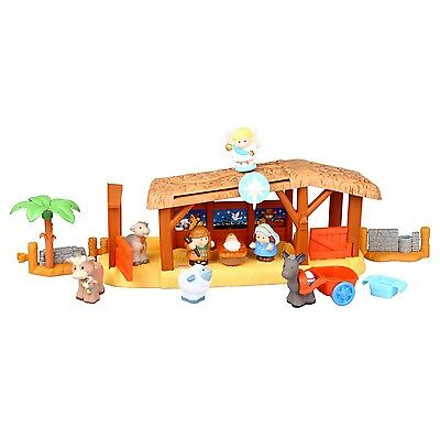 FISHER PRICE W2869 Little People Weihnachtskrippe Krippe + Figuren Krippenspiel