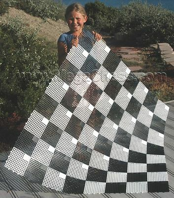 """MegaChess Large Outdoor Plastic Chess/Checkers Board with 6"""" Squares"""