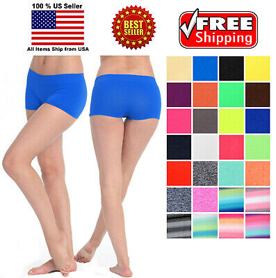 Micro Seamless Stretch Booty Boy Shorts Spandex Workout Biker Hot Pants ONE SIZE