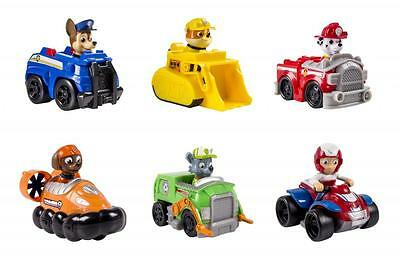 PAW PATROL COMPLETE SET 6 RESCUE RACERS CHASE RUBBLE MARSHALL RYDER ZUMA & ROCKY