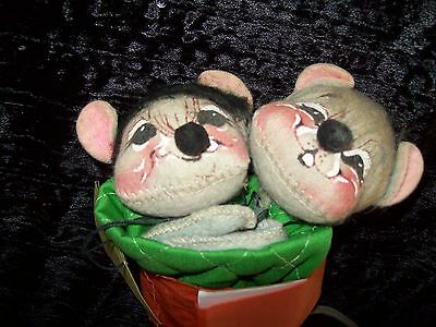 Annalee Mobilitee Doll 1965 1977 Meredith MOUSE Pair Boy Girl