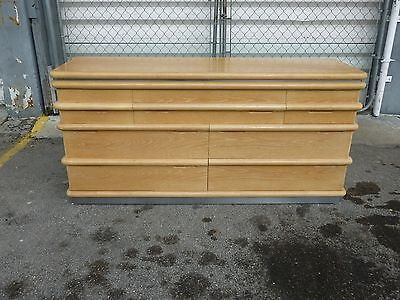 Jay Spectre For Century Furniture Limed Oak 7 Drawer Credenza Of Chest
