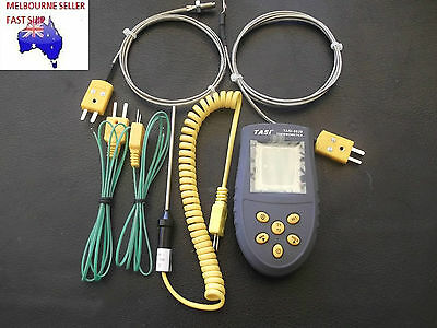 K TYPE DUAL INPUT DIGITAL THERMOMETER -50 to 1350 deg C WITH 5 PROBES