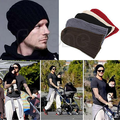 Unisex Men Hip-Hop Warm Winter Wool Knit Ski Beanie Skull Slouchy Cap Hat