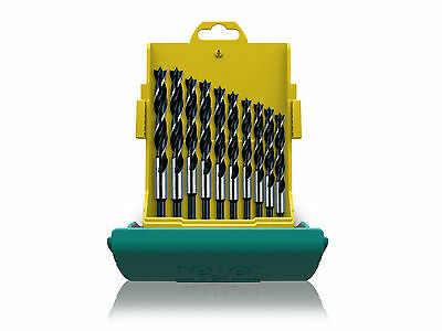 Heller 10 piece CV Brad Point Wood Bit Set 3mm - 12mm High Quality German Tools