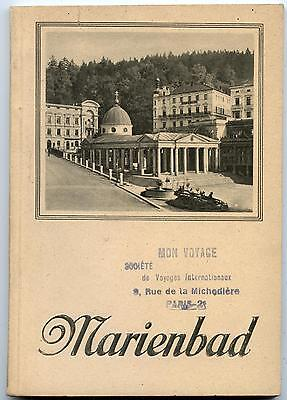 GUIDE.MARIENBAD.TCHéCOSLOVAQUIE.ANNéE 1927.STATION THERMALE.