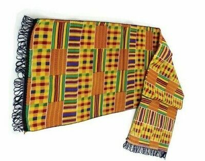 Vintage African men womens scarf stole  Dashiki Boho hippie scarves one Size