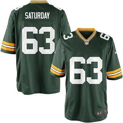 NWT Nike Green Bay Packers  63 JEFF SATURDAY NFL Home Game Jersey YOUTH  Medium 591f9d9bb