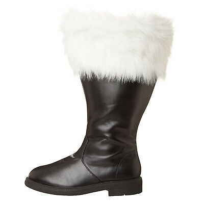 Professional MEN'S Christmas Costume WIDE CALF Santa Claus BOOTS