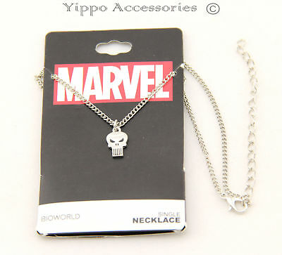 Punisher Skull Licensed Small Logo Necklace