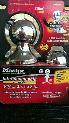 MASTER LOCK INTERCHANGEABLE HITCH BALL FOR TOWING 2807DAT