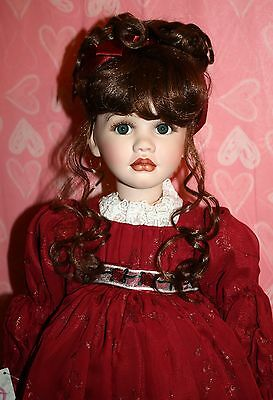 """*NWT* MARIE OSMOND MUSICAL YOUNG LOVE 25"""" PORCELAIN DOLL W/ MINI DOLL"""