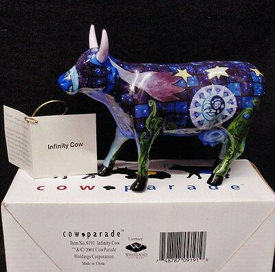 COW PARADE Infinity Ceramic Figurine Retired Astrology