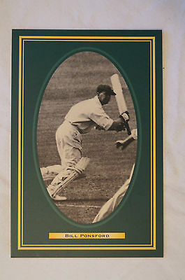 Cricket Collectable Postcard - Hall of Fame Inductee - Bill Ponsford.